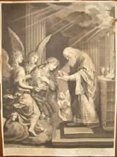 1685-MAGDELEINE-MADDALENA-ANGELI-GRANDE INCISIONE ORIGINALE-RARA-BIG COPPER