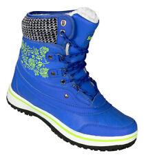 beec336ae61ee7 Damen Stiefel Winterschuh Winterstiefel Outdoor Snow Boot Scuo-869 Blau Gelb