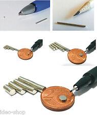Neodym-Supermagnete  Scheiben u. Würfel 1 mm Dicke - versch. Größen vernickelt