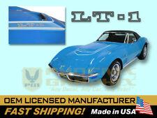 1970 1971 1972 Chevy Corvette C3 Block LT1 LT-1 Hood Stencil Decals Stripes Kit