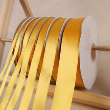 91m Yellow GoldSatin Polyester Ribbons Christmas Wedding Favor Box Gift Wrapping