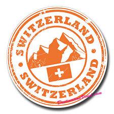 2 x Glossy Vinyl Stickers - Switzerland Ski Europe Travel Fun Laptop Decal #0161