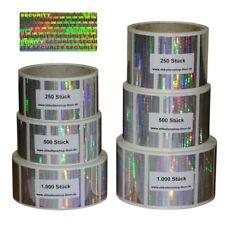Hologramm - Aufkleber / Sicherheitsetiketten - verschiedene Größen