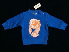 Diesel Brand Stromb Blue & Orange Tiger Print Sweatshirt Baby 9 Months *NEW*