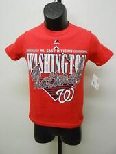 MLB Washington Nationals Jeunes Tailles S-M-L Rouge Majestic Chemise