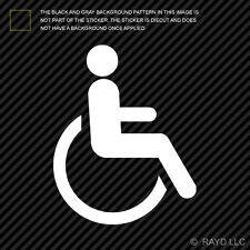(2x) Handicap Sticker Die Cut Decal Self Adhesive Vinyl wheelchair accessible