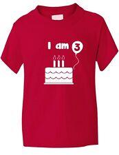 Childs 3rd  Birthday Present I am 3 T shirt  Size S-XXL