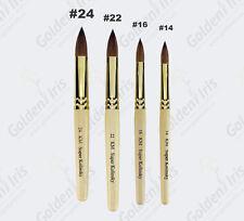 Professional Oval Kolinsky Acrylic Nail Brushes #24, #22, #16, #14 -US Seller-