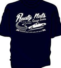 """Rusty Nuts Garage Services"" t-shirt.    Classic Lotus Elan Plus 2"