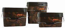 FOX CAMO SQUARE CARP BUCKET - ALL THE SIZES
