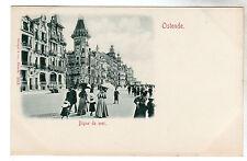 Digue De Mer - Ostende Photo Postcard c1899