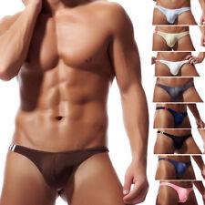 Nuevo Hombre Baja Altura Bolsa de Bombeo Tanga T-Back Bikini Ropa Interior