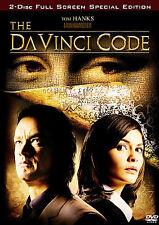 The Da Vinci Code Dvd 2006 2-Disc Set Special Edition Full Screen/Tom Hanks New!