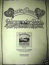 COMMANDER CODY 1973 Promo Poster Ad COUNTRY CASANOVA