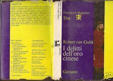 ROBERT VAN GULIK-I DELITTI DELL'ORTO CINESE-1965