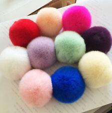 Charms Rabbit Fur Ball PomPom Cell Phone Car Keychain Handbag Key Ring Pendant