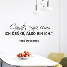 "Wandtattoo Zitat ""Cogito ergo sum..."", René Descartes, Wandsticker, Wanddeko"