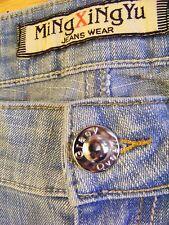 MiNgXiNgYu Graey Qveen Famers Boot Cut Cotton Blend Low Cut Jeans Size 27-CL0167