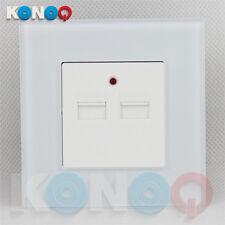 KONOQ Luxury Glass Panel 1 Gang Double USB Charger Single Socket.