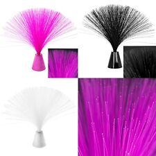 Fibre Optic Colour Changing Spray Tabletop Light Decor | Pink | Black | Silver