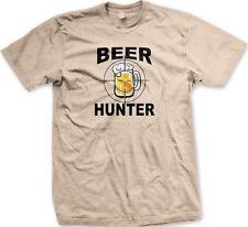 Beer Hunter Glass Mug Crosshairs Target Pong Party College Drink Men's T-Shirt