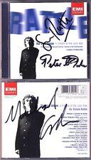 Simon RATTLE, DONOHOE Signed THE JAZZ ALBUM Gershwin Rhapsody in Blue Milhaud CD