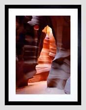 Antelope Canyon Arizona Cueva Marco Negro Imagen de Impresión Arte Enmarcado Montaje B12X9565