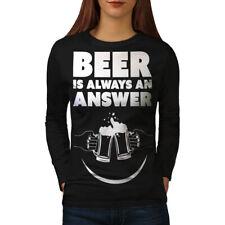 Beer Answer Cool Funny Women Long Sleeve T-shirt NEW   Wellcoda