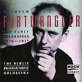 Furtwangler Early Recordings 1926 - 1937 2 CD Fat Box set