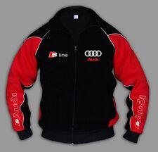 AUDI S Line Jacke Sweatjacke Sweater Pullover Herren STICKEREI EU Gemacht XS-6XL