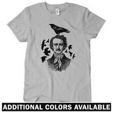 Poe Raven Women's T-shirt S-2X - Gift Hipster Edgar Allan Poet Portrait Poetry