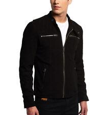 Men's Black Suede Leather Jacket Slim fit Biker Motorcycle Jacket - FL102