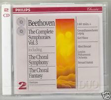 BEETHOVEN SINFONIA N 9 CHOARAL SINFONIA CHORAL FANTASY MASUR BRENDEL 2 CD