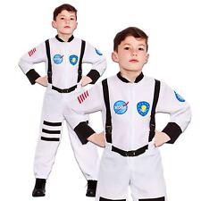 Astronaut Boys Jumpsuit White Space Suit Kids Fancy Dress Costume Childs New