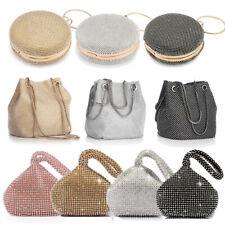 Women Crystal Rhinestone Evening Clutch Bag Banquet Handbag Fashion Party Purse