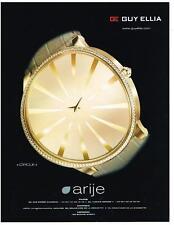 PUBLICITE ADVERTISING   2009   GUY  ELLA ARIJE      collection CIRCLE    montres
