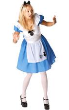 Womens Disney Alice In Wonderland Fairy Tale World Book Day Fancy Dress Costume
