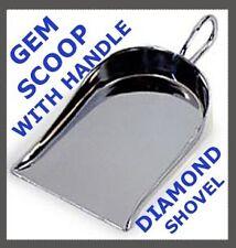 DIAMOND GEM STONE SCOOP SHOVEL WITH HANDLE  GEMSTONES & SEED BEADS JEWELRY TOOLS