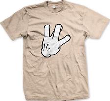 West Side Sign Gloved Hand Throwing Gang Rap Street Coast Thug War Men's T-Shirt