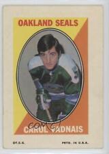 1970-71 Topps Sticker Stamps #CAVA Carol Vadnais Oakland Seals Hockey Card
