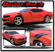 DOUBLE BAR 2 Chevy Camaro 2015 Hood Hash Lemans Stripe Decal 3M Vinyl Graphic LS