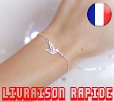 Bracelet Chaîne Origami Colibri Femmes Mode Animal Vol D'oiseau Bijoux Cadeau