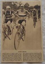 Photo André Leducq ,cyclisme, 1933,clipping