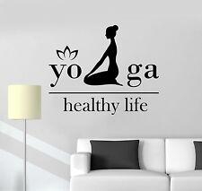 Vinyl Decal Yoga Healthy Life Woman Girl Lotus Decor Wall Stickers (ig3569)