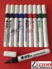 10 X drywipe Pizarra Rotuladores-elección del color-Gran Oferta + Gratis Envío!