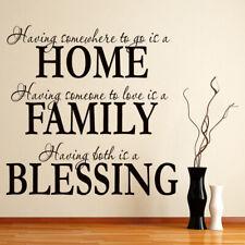 Huis Familie Zegen Familie citaat Muursticker WS-15945