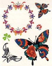 Temporay Körper Tattoo Einmal Tatoo Tätowierung Bodyart Blume Schmetterling