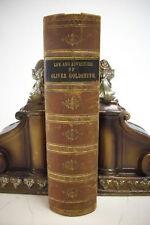 1848 LIFE AND ADVENTURES OF OLIVER GOLDSMITH * Leather *Irish Novelist*Poet