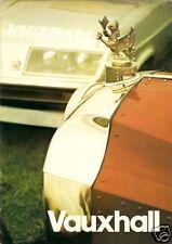 Vauxhall 1974-75 UK Market Brochure Viva Magnum Firenza Victor VX4/90 Ventora