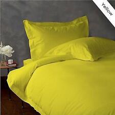 Yellow Solid Extra Deep Pkt Sheet set 1000TC Egyptian Cotton